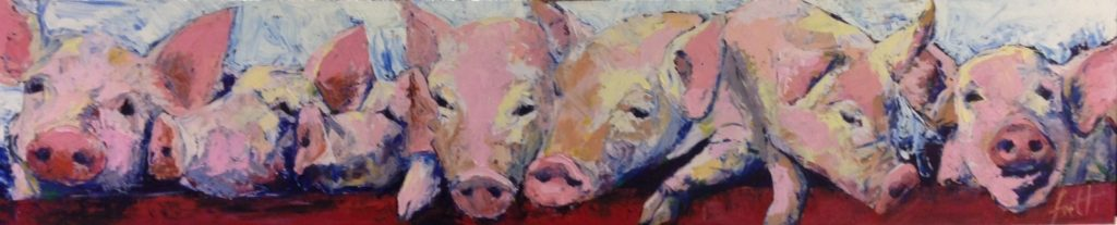 Piglets in a row