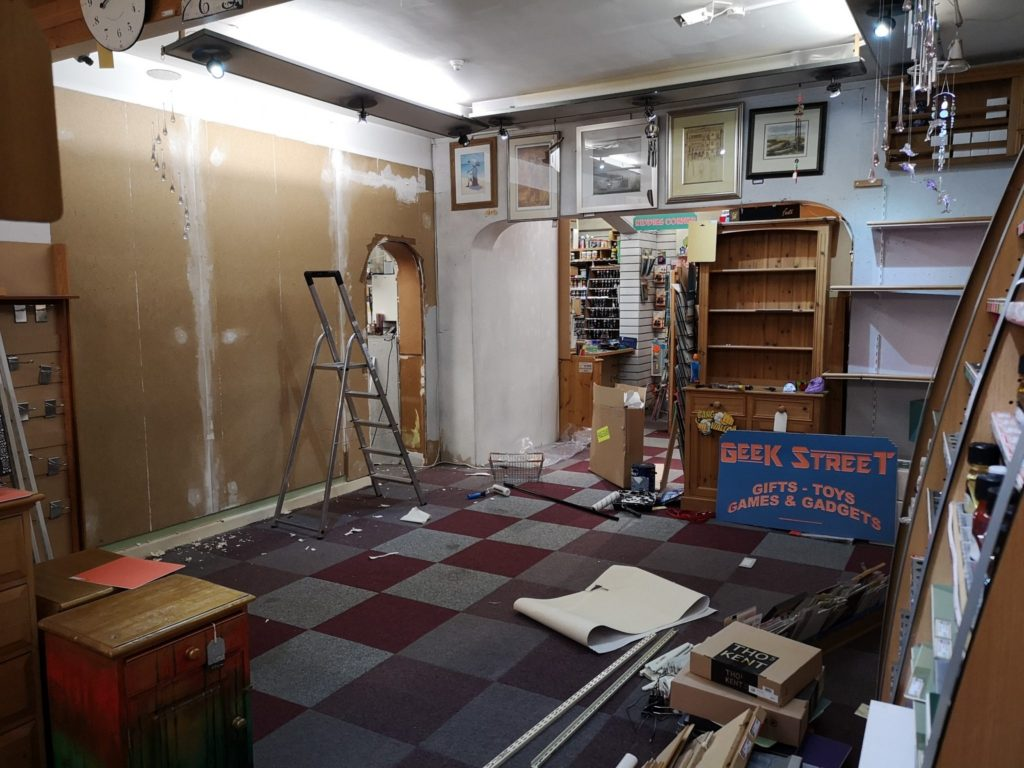 Before picture of art gallery